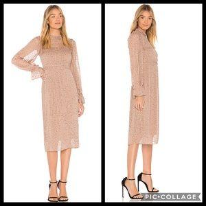 Anthropologie Midi Dress Allegra by Line + Dot
